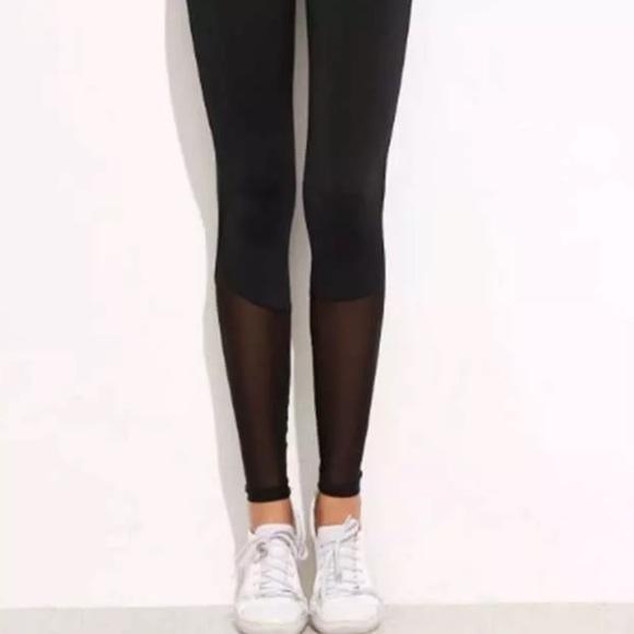 c6b27784ea869 Mossimo Supply Co. Pants | Mossimo Co Black Mesh Contrast Leggings ...